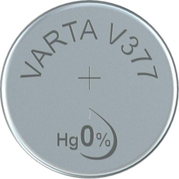 Silberoxid-Knopfzelle Typ SR66 / V377 von Varta